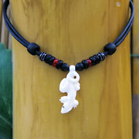 Surfer Necklace Gecko Necklace Leather Necklace Maori Men's Women's New Zealand