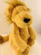 "Jellycat Leonardo The Lion 10"" Orange Gold Stuffed Animal Plush Junglie Bunglie"