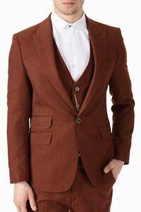 Jack Martin - Peaky Blinders Style - Tobacco Brown Tweed 3 Piece Suit