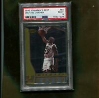 MICHAEL JORDAN CHICAGO BULLS 1996 BOWMAN'S BEST BASKETBALL CARD #80  PSA 9