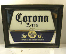 VINTAGE CORONA EXTRA IMPORTED BEER ADVERTISING FRAMED MIRROR BAR SIGN 14x18