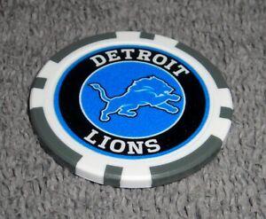 NFL DETROIT LIONS SOUVENIR COLLECTIBLE POKER CHIP GOLF BALL MARKER