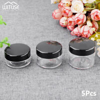 Cosmetic Empty Jar Pot Eyeshadow Makeup Face Cream Portable Containers 5Pcs 9BD