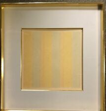 Rare AGNES MARTIN lithograph 1978 FIFTY SMALL PAINTINGS, gilt framed, glued down