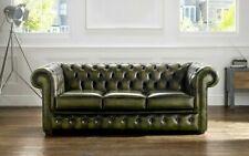 Echtes Leder Sofa 3 Sitzer Couch Grün Sofas Couchen Polster Sitz Garnitur Neu