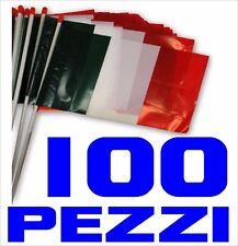 EUROPEI CALCIO bandiera 100 PEZZI plastica ITALIA polietilene cm 30 x 20 STADIO