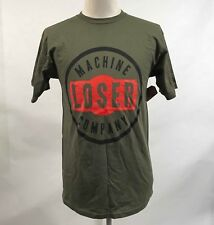 Loser Machine Men's T-Shirt Watermark Military Green Size M NWT Adrian Lopez