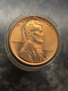 1958 Wheat Cent Roll Brilliant Uncirculated Bright Red Roll
