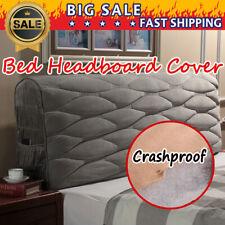 Crashproof Dustproof Bed Headboard Slip Cover Protector Queen King Size Bedroom