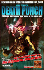 Five Finger Death Punch The Wrong Side Of Heaven Vol 2 Ltd Ed New Rare Poster!