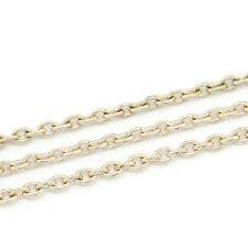 10m Gliederkette Halskette Statement Meterware Farbe Rosegold 2 x 3 mm