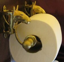 Bull Terrier Bronze Toilet Paper Holder Or Paper Towel Holder!