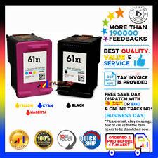 2x NoN-OEM Ink 61 XL Black & Colour for HP Deskjet 1050/2050/3050/2510/2540
