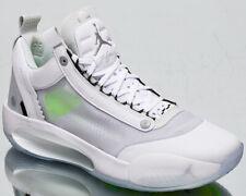 Air Jordan Xxxiv Low para Hombre Blanco Plata Metálica Baloncesto Zapatillas