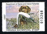 CKSTAMPS : 1997 US Virginia State Ducks Hunting Stamps $5.00, Mint NH OG VF