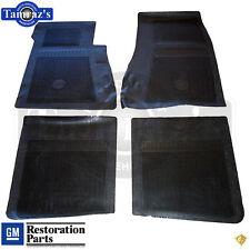 61-72 Impala Rubber 4 Piece Bow Tie Logo Floor Mat Set  Lic. GM Resto - BLACK