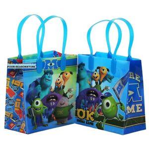 "12pc University Monster Goodies bag Favor Birthday 8"" Medium Party Bags"