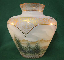 Fenton Connoisseur Collection After The Rain Vase 12 Family Signatures, 1998 NIB