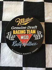 Vintage Miller Genuine Draft Racing Team Rusty Wallace Sticker