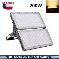 200W LED Module Flood Light Outdoor Landscape Yard Garden Lamp Warm White 110V
