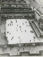 CD-384 NY NYC Rockegeller Center Skating Rink Real Photo Postcard RPPC Ratcliffe