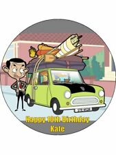 MR BEAN 19cm Edible Cake Topper Wafer Paper & 12 Birthday Cupcake Toppers