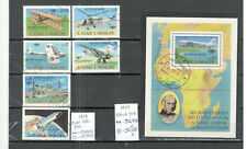 S. Tome and Principe aviation stamps and  block 1979