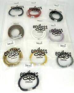 10pc JLO ENDLESS Jewelry Multi Color Leather Wrap Charm Bracelets :