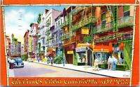Greetings from Chinatown New York City 1949 Linen Postcard