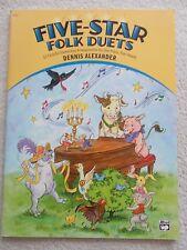 Dennis Alexander 5 Star Folk Duets Elemen Piano Unused