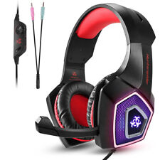 3.5mm Gaming Headset Music Mic Headphones LED For PC Laptop Mac PS4 Xbox One 3DS