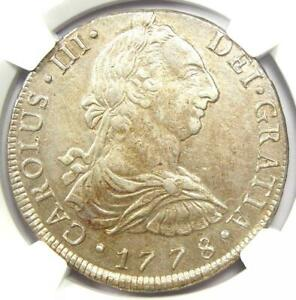1778-Lima Peru Charles III 8 Reales Coin 8R - Certified NGC AU Detail