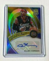 2019-20 Panini Spectra Basketball ALLEN IVERSON autograph prizm GOLD #02/10