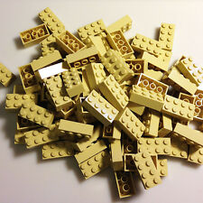 100 *NEW* LEGO 2x4 Brick Yellow (Tan) Bricks (ID 3001) BULK simpsons creator