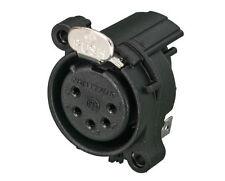 Neutrik NC5FAH-D 5 pin female XLR receptacle, Horizontal PCB Mount