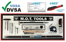 MOT SIGNS | MOT SIGN | VOSA DVSA | MOT TOOLS SHADOW BOARD 9 TOOLS STRAIGHT BAR