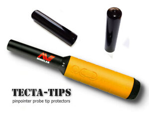 2 Full Length TECTA-TIPS for Minelab Pro-Find 15 20 35 pin-pointer probe BLACK