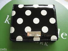 Small Kate Spade Wallet black white zippered coin pouch leather folded designer