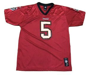 Reebok NFL YOUTH Size XL Tampa Bay Buccaneers Josh Freeman #5 Jersey RED