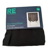 """New Black Room Essentials One Tie Up Shade Window Treatment Curtain 42""""W X 63""""L"""