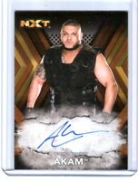 WWE Akam RA-AK 2017 Topps NXT Bronze Authentic Autograph Card SN 57 of 99