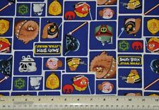 1/2 yd cotton quilt fabric star wars angry birds Camelot Fabrics patch quilting