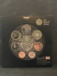Royal Mint 2008 United Kingdom Brilliant Uncirculated Coin Collection