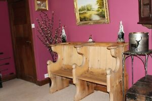 Antique Church pew choristers seat