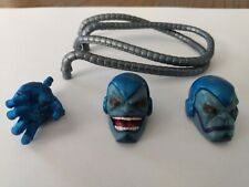 MARVEL LEGENDS APOCALYPSE BAF ALT HEADS ,PARTS LOT BY HASBRO( SEE PHOTOS)