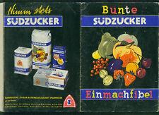 Bunte Südzucker Einmachfibel Mannheim Zucker Rezepte Einkochen Marmelade 1960