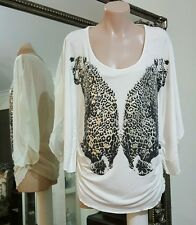 NWOTS Jane Norman Leopard reflections Blouse.Sz12.UK Designer.Silky viscose.