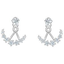 Swarovski 5508832 Moonsun:Pierced Earring Jackets, White,Rhodium Plated RRP$129