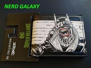 DC Batman Who Laughs By Jim Lee Super Villains Bi-Fold Wallet LICENSED! NEW!