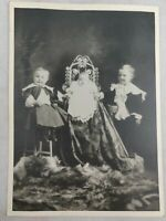 "Vintage Antique Baby/ Children Photo Cabinet Card  Beautiful Rare Picture 5""x7"""
